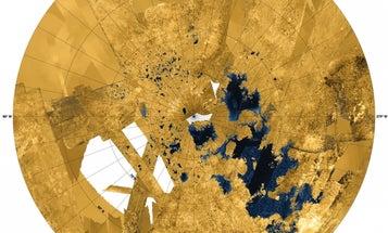 Cassini Spots Mosaic Of Extraterrestrial Seas