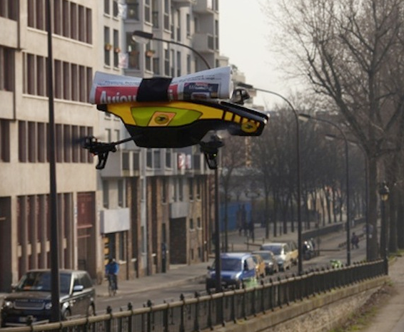 In A Future Where Newspapers Still Exist, Let's Deliver Them By Drone