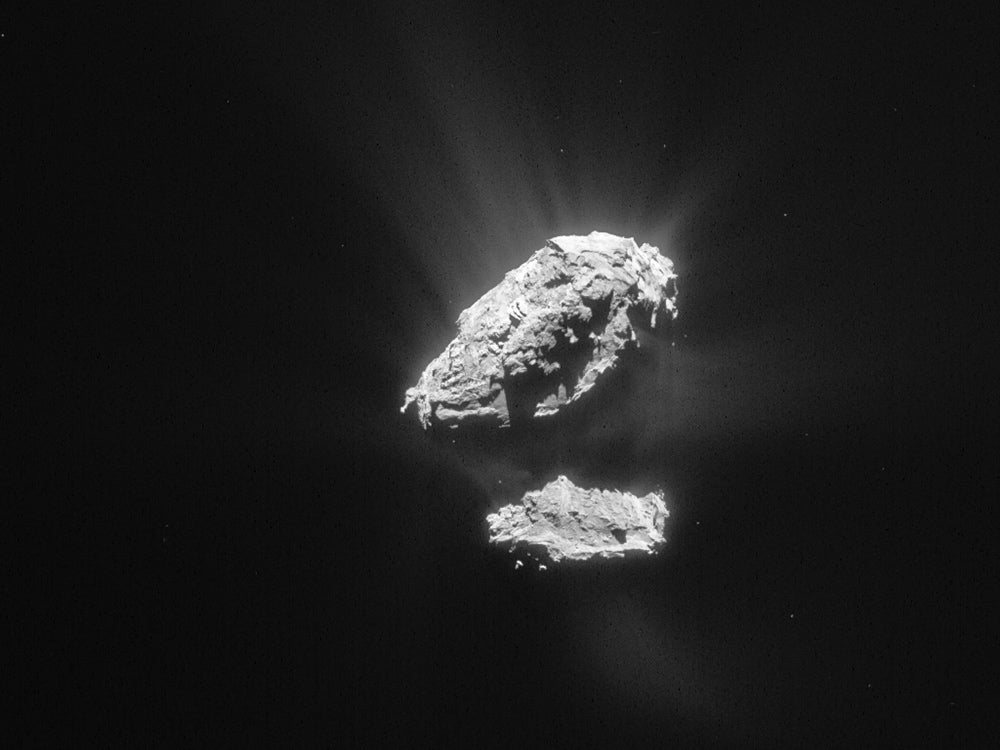 comet image from rosetta mission