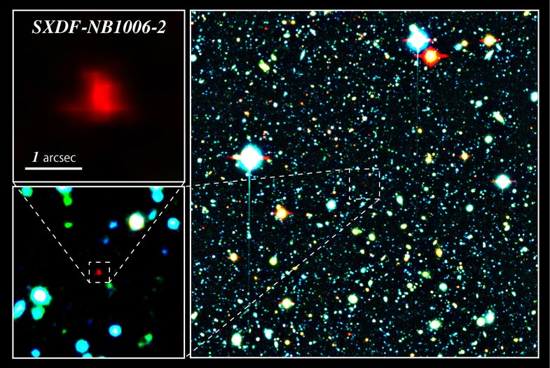 A Star System 12.9 Billion Light Years Away is the New Most Distant Galaxy