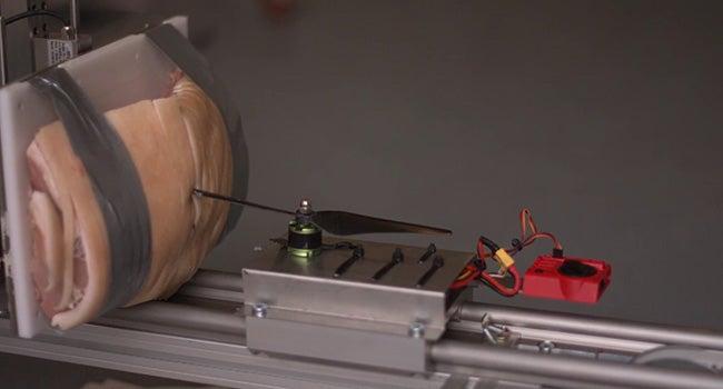 What Happens When A Drone Hits A Pork Roast?