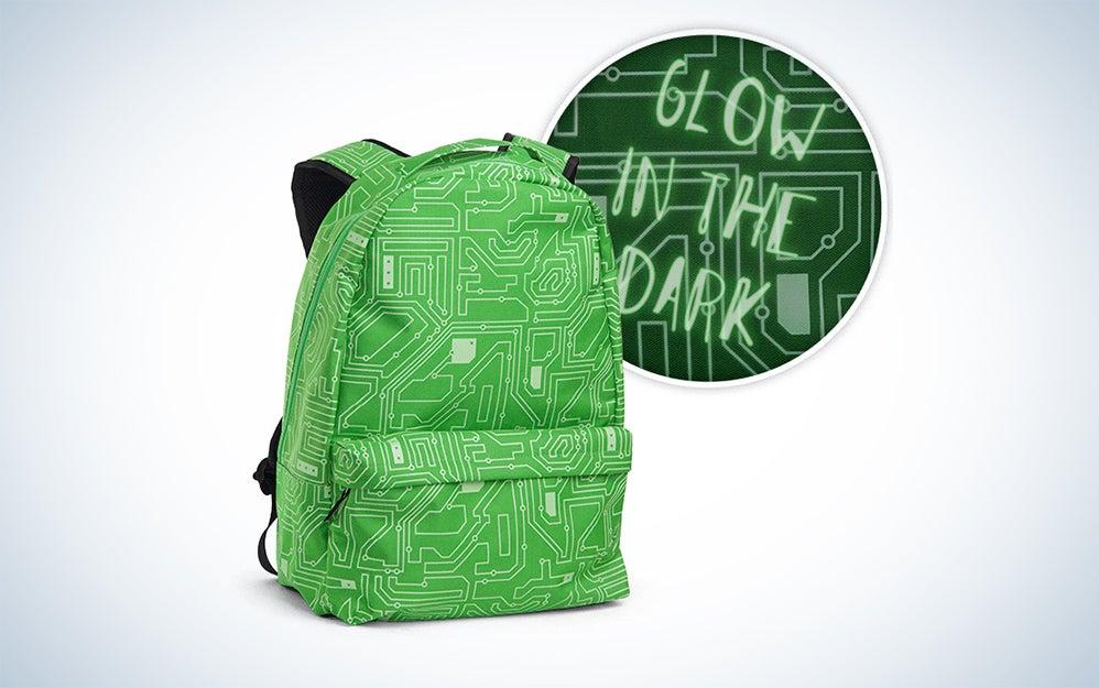 Glow in the dark circuitry backpack