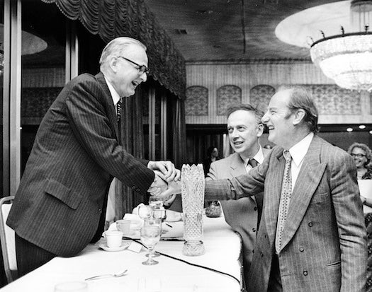 Maclyn McCarty with Francis Crick and James D. Watson