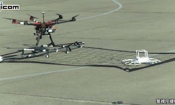 Watch Japan's Police Drone Catch A Quadcopter
