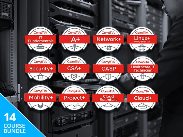 Get 140+ hours of CompTIA certification training, now less than $8 per course
