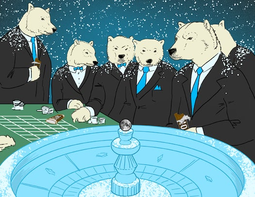 This Week In The Future: Polar-Bear Businessmen Gamble With Chocolate