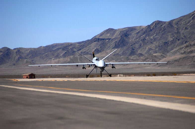 Military Drone Looks For Missing School Teacher
