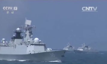 As a drill and potential warning, China's navy just fired dozens of missiles near North Korea