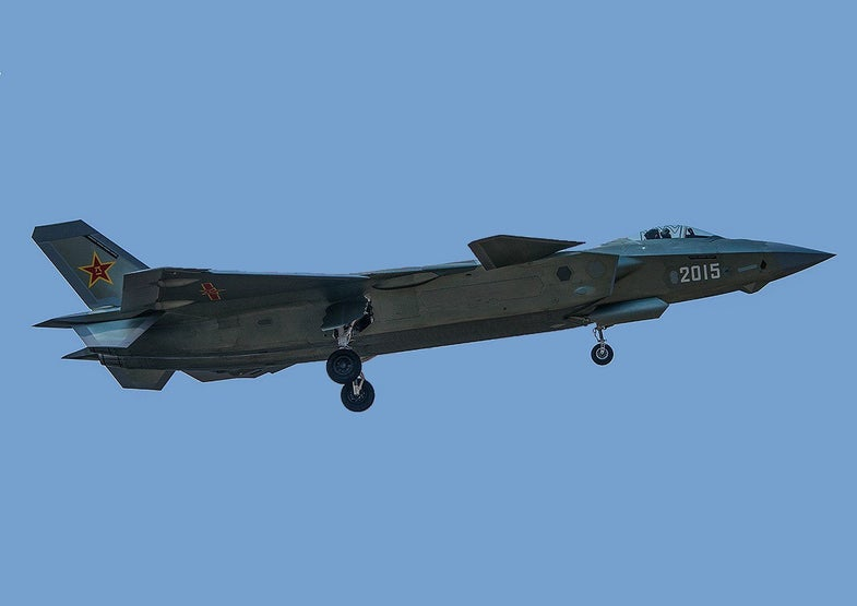 China J-20 Stealth Fighter 2015 aircraft in flight