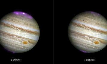 Solar Storms Cause Huge Auroras On Jupiter