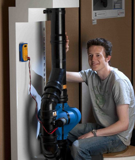 Toilet Tech: A Power Generator Turns Falling Wastewater Into Electricity