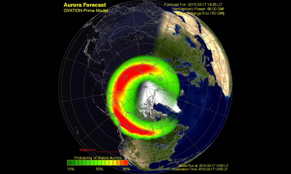 Aurora May Be Visible As Far South As Tennessee And New Mexico Tonight