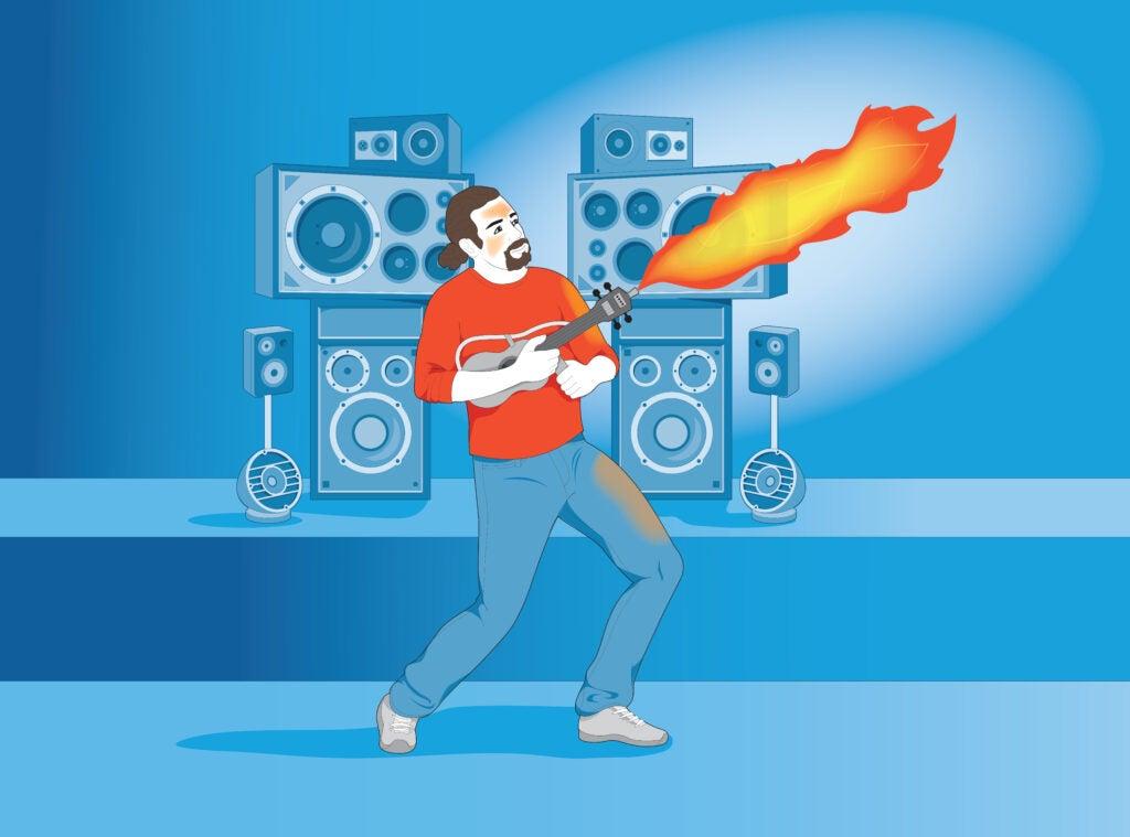 Flaming Ukelele