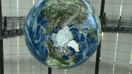 Japanese Museum Unveils A Giant Globe Made of 10,000 Live-Updating OLED Panels