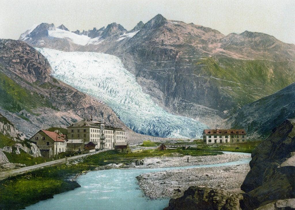 The Rhône Glacier circa 1900