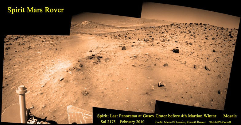 This Is the Last Image the Spirit Mars Rover Ever Saw