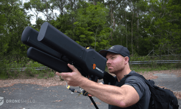 This drone gun knocks drones out of the sky gently, with radio waves