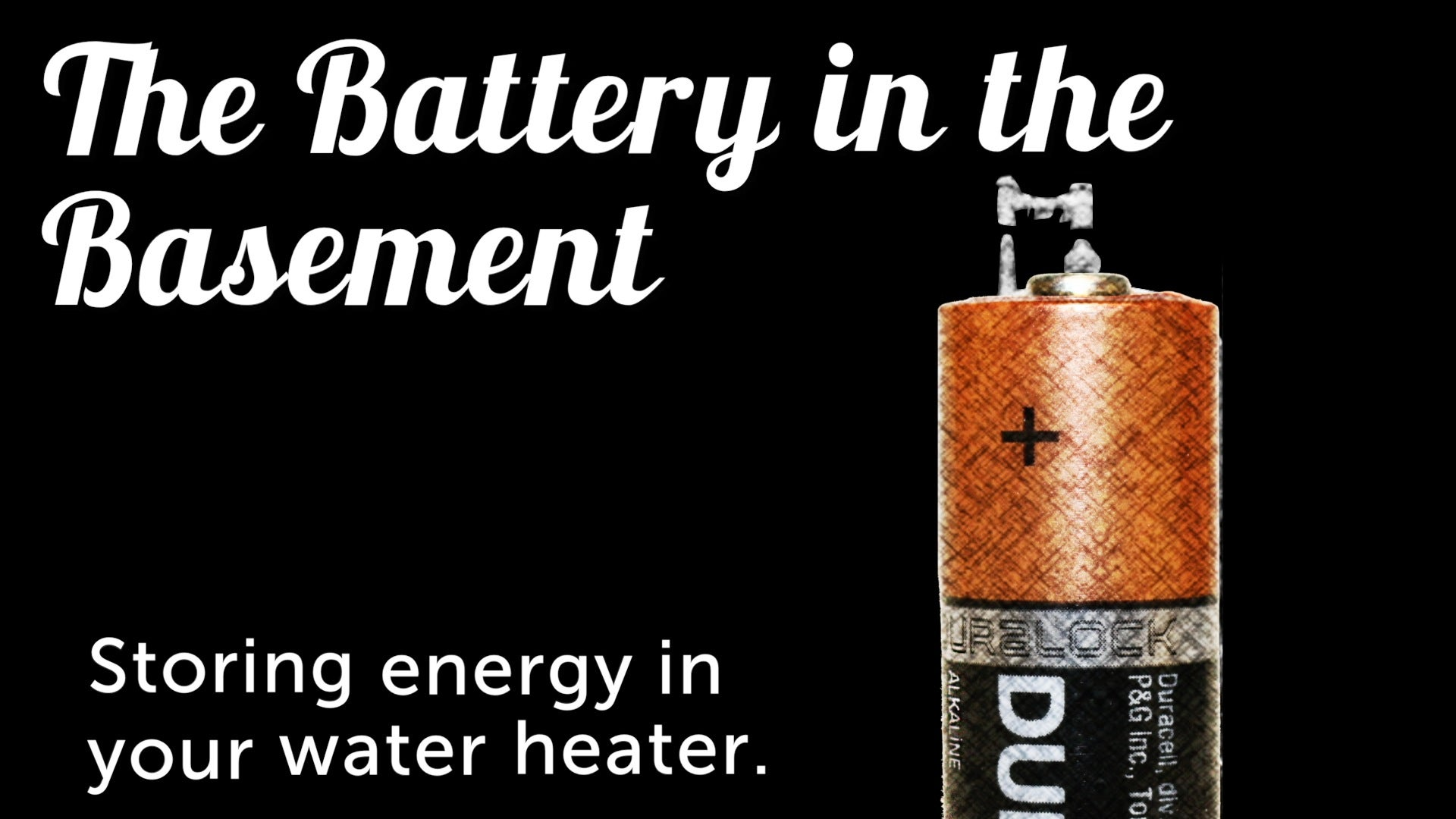 Your Water Heater Can Become A High-Power Home Battery