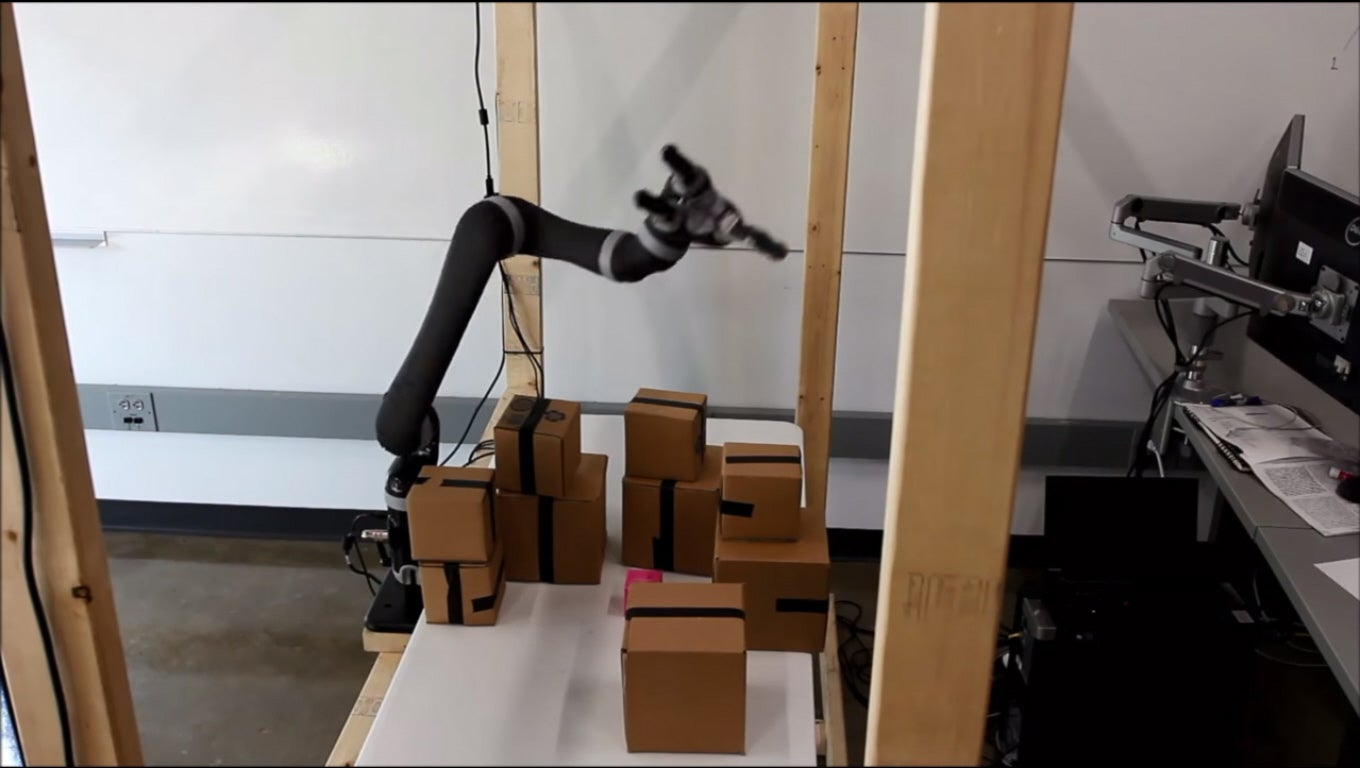 Robotic System Plots Space Then Moves Arm Safely Through It
