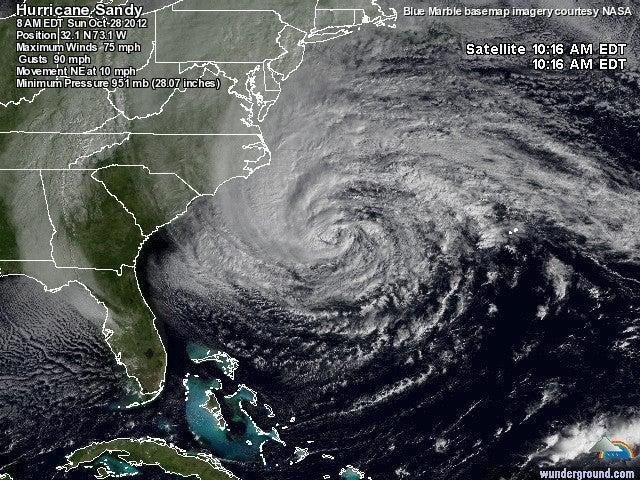 The Dictionary Of Hurricane Sandy: Baroclinic Energy