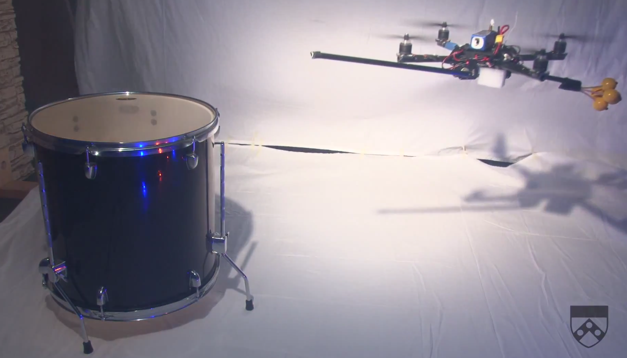 Video: GRASP Lab Quadcopters Play the James Bond Theme on Actual Instruments