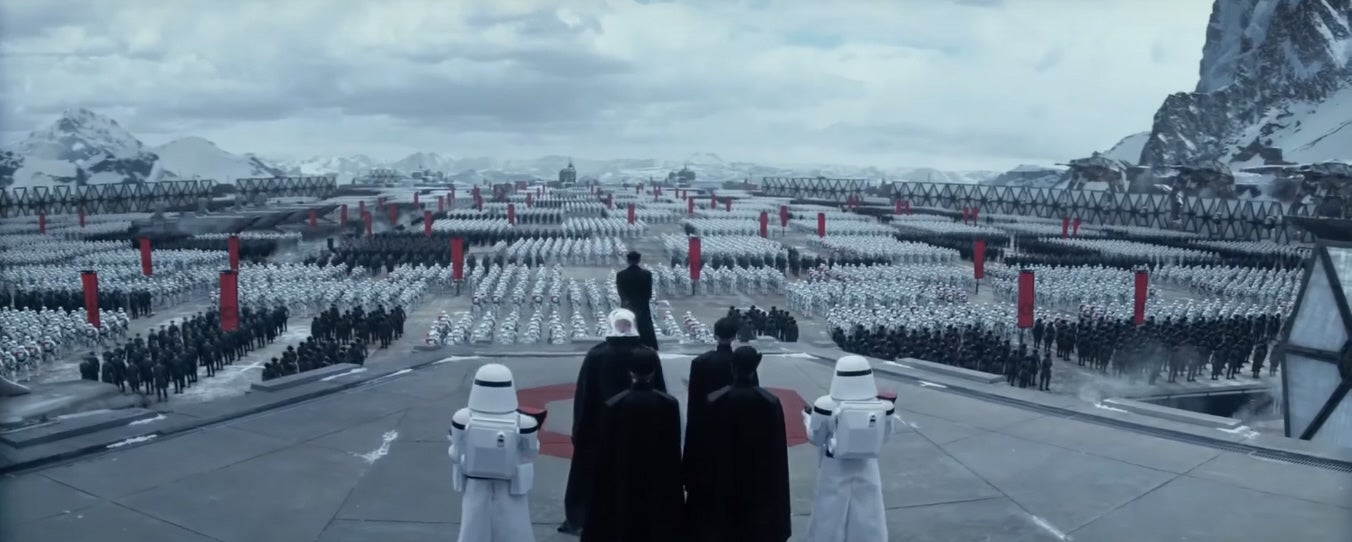 A Legion Of Stormtroopers In New Star Wars International Trailer