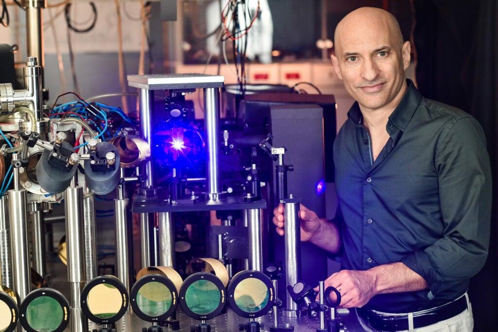 Steinhauer with his black hole machine