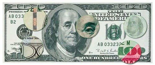 security flaws in today's $100 bill