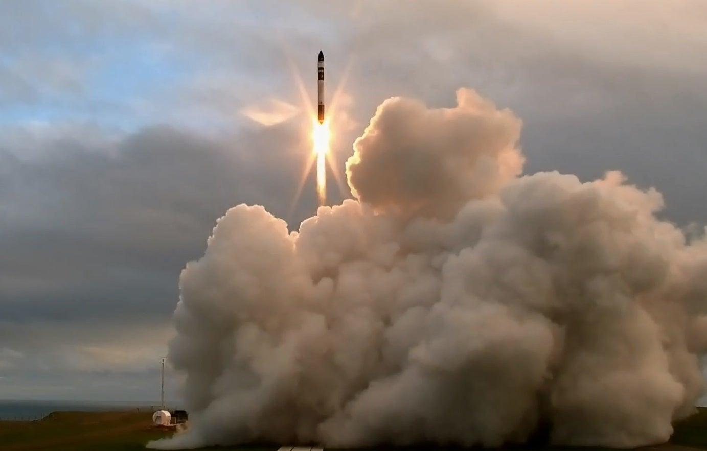 Electron rocket takes off