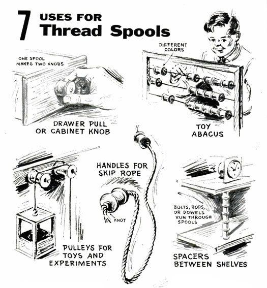 Thread Spools: February 1957
