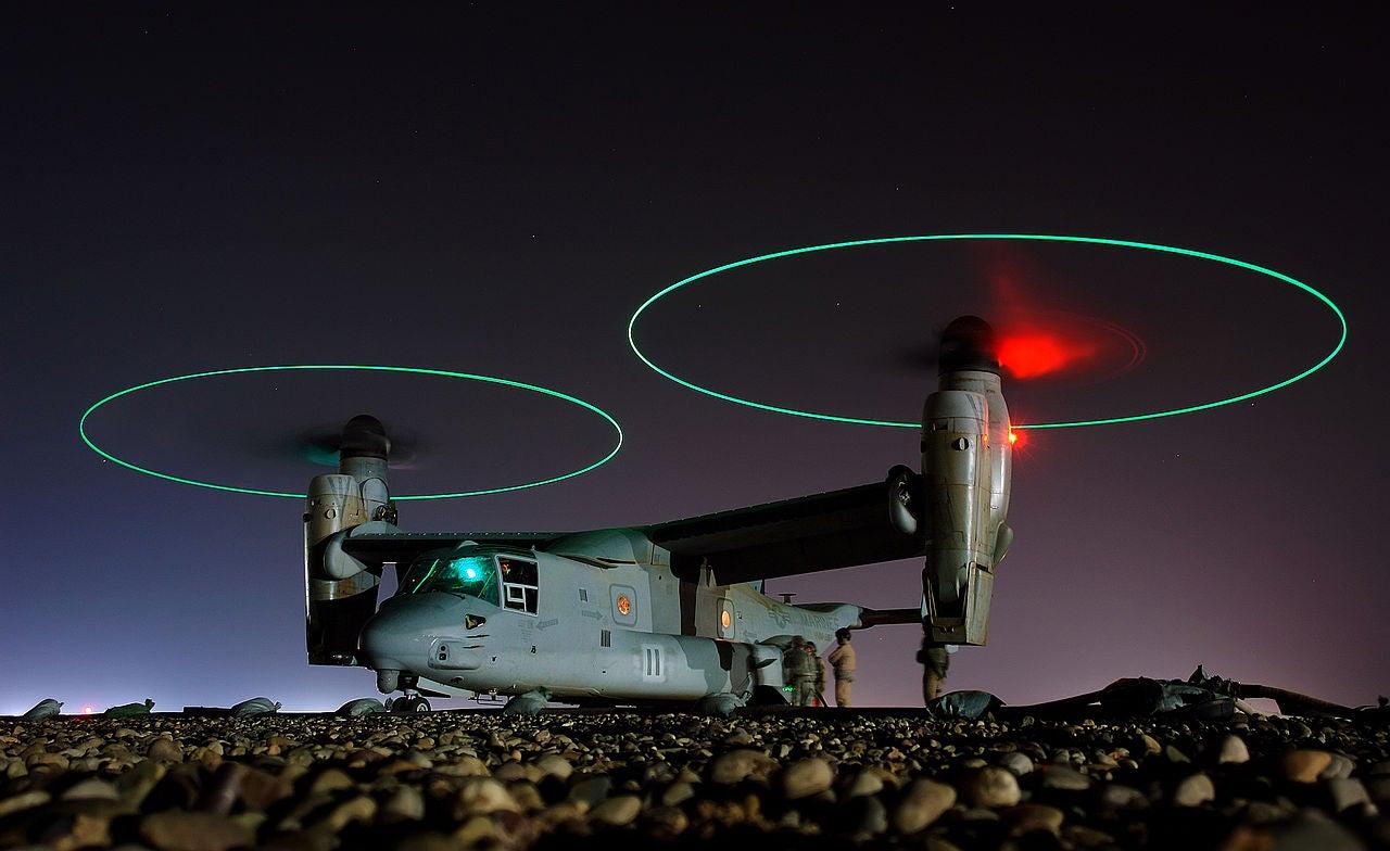 Marine V-22 Osprey Shoots Kamikaze Drones Out Its Backside
