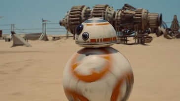 Still Of BB-8 From The Force Awakens Trailer