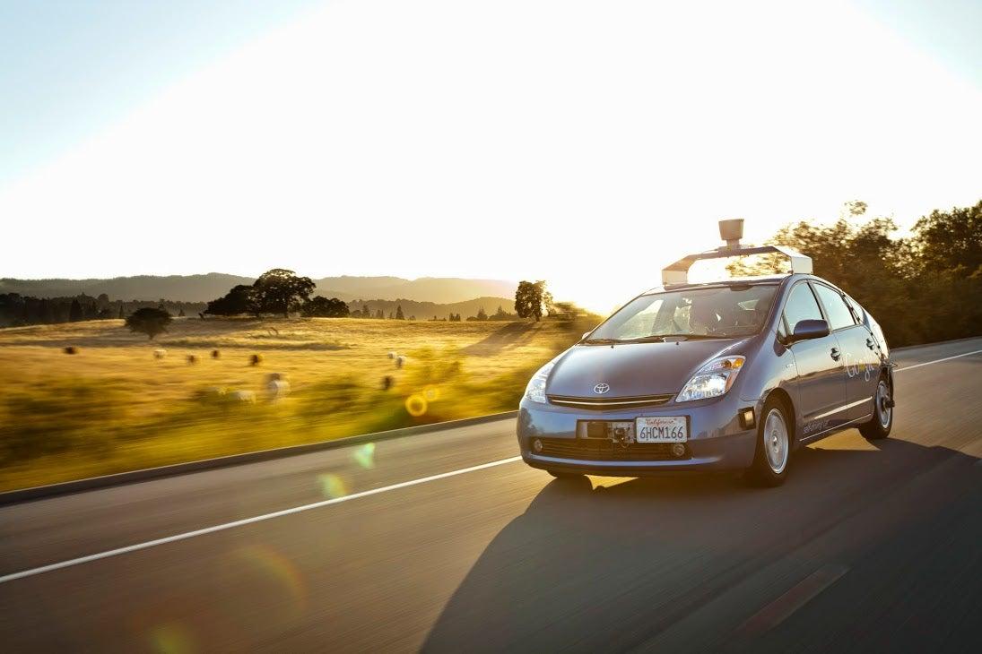 Google's modified self-driving Toyota Prius circa 2009