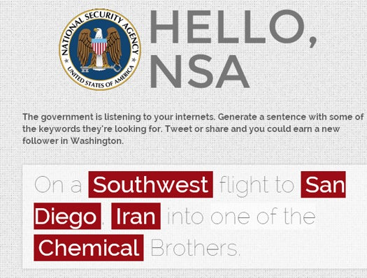 Overwhelm The NSA With Vice's New Spam Generator