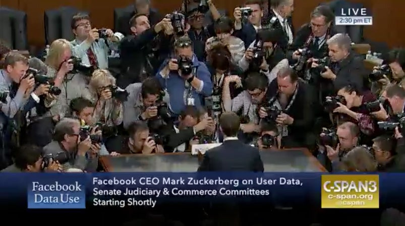 Let's watch Mark Zuckerberg testify in front of Congress