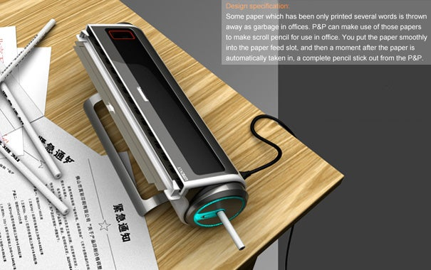 Concept Shredder Turns Discarded Office Memos into Fresh New Pencils