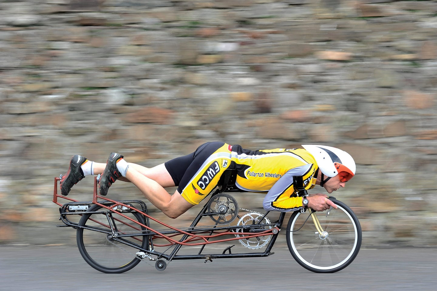 The Fastest Face-Down, Head-First, Human-Powered Vehicle