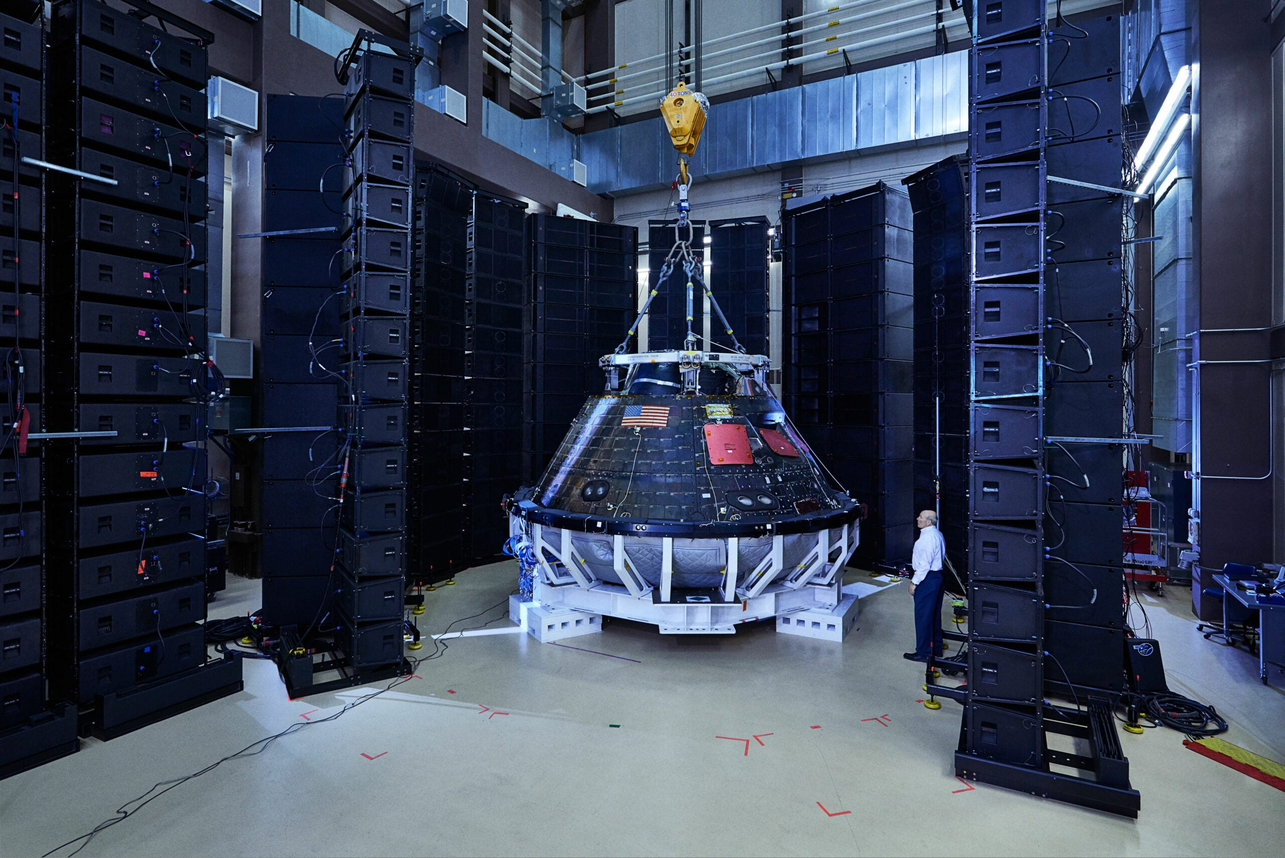 Why Lockheed Martin Is Blasting The Orion Spaceship With 1,500 Speakers