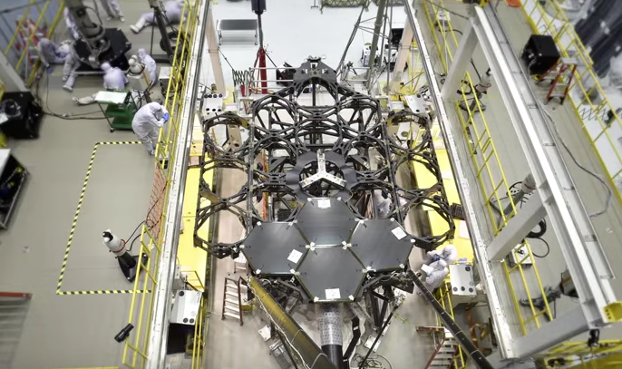 Watch This Mesmerizing Timelapse of NASA's Next Humongous Telescope Being Assembled