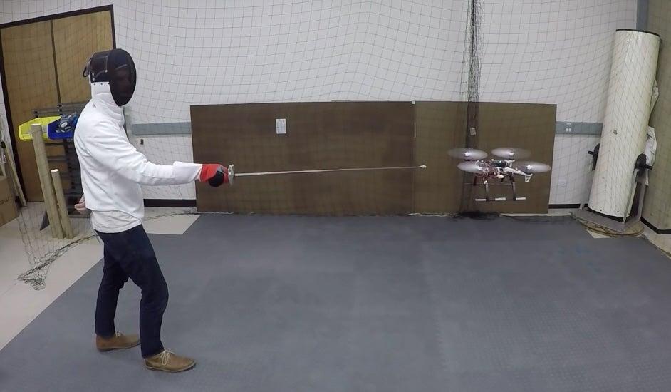 This Drone Dodges Swords