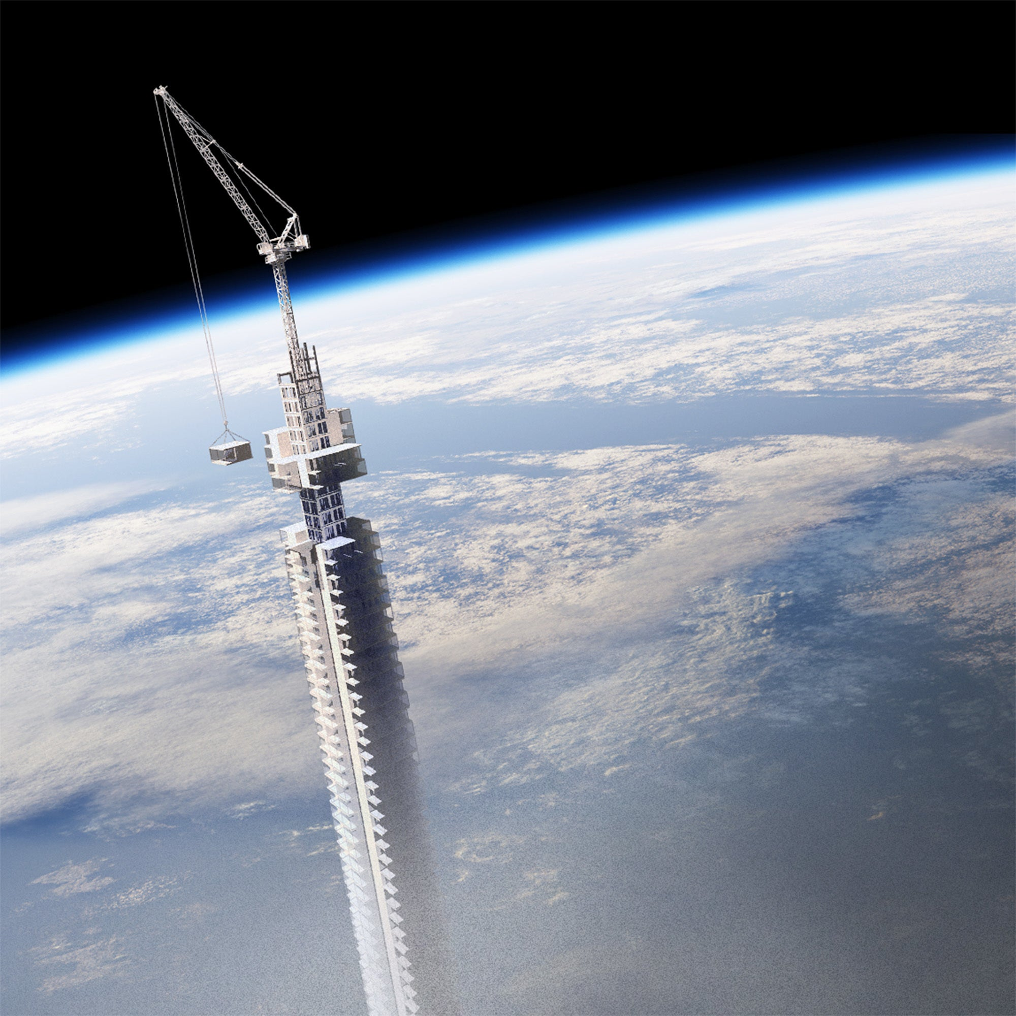 This building hanging from an asteroid is absurd—but let's take it seriously for a second