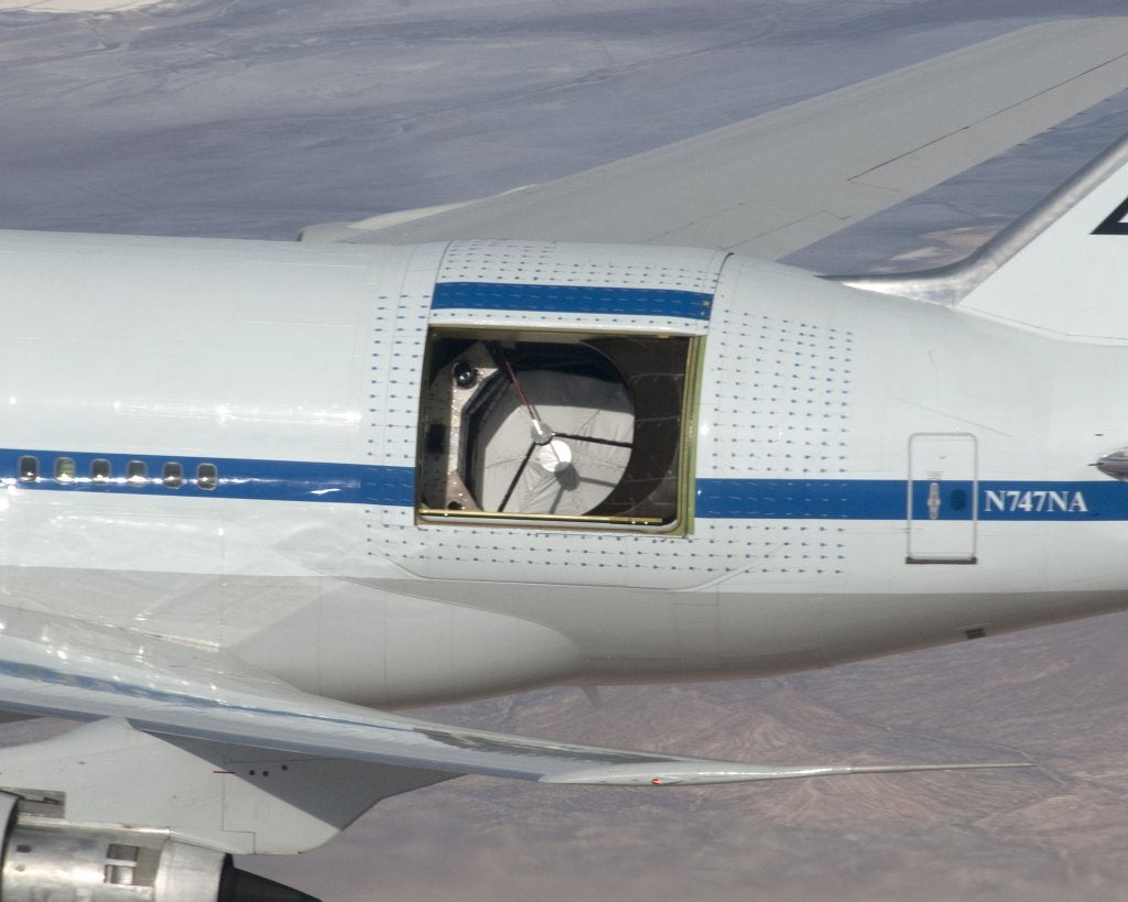 Inside Sofia, NASA's Airplane-Mounted Telescope