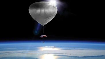 Space in a hot air balloon