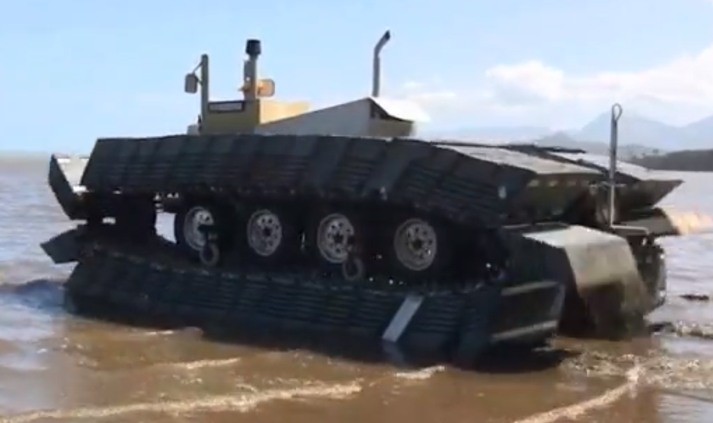 Video: DARPA's New Amphibious Tank Prototype Drives On Water