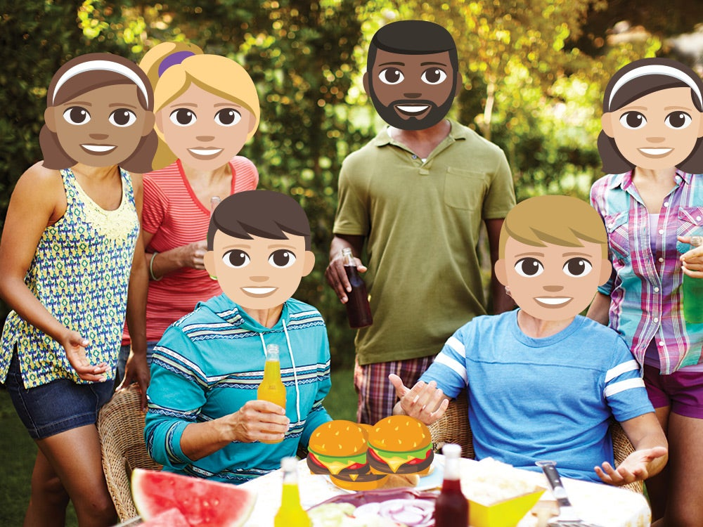 emoji character cookout