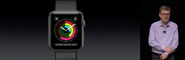 The Apple Watch's new activity-focused watch face.