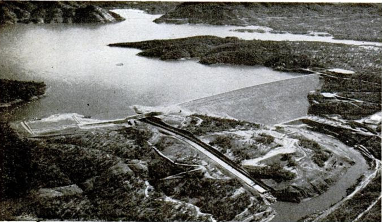Historical picture of Oroville reservoir