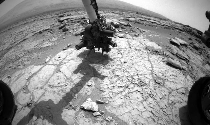 Today On Mars: Curiosity Is Pounding Rocks