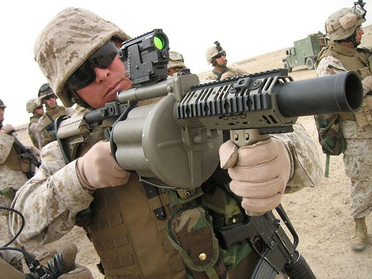 DoD and Taser's New Grenade Launcher Round Delivers Incapacitating Shock From 200 Feet