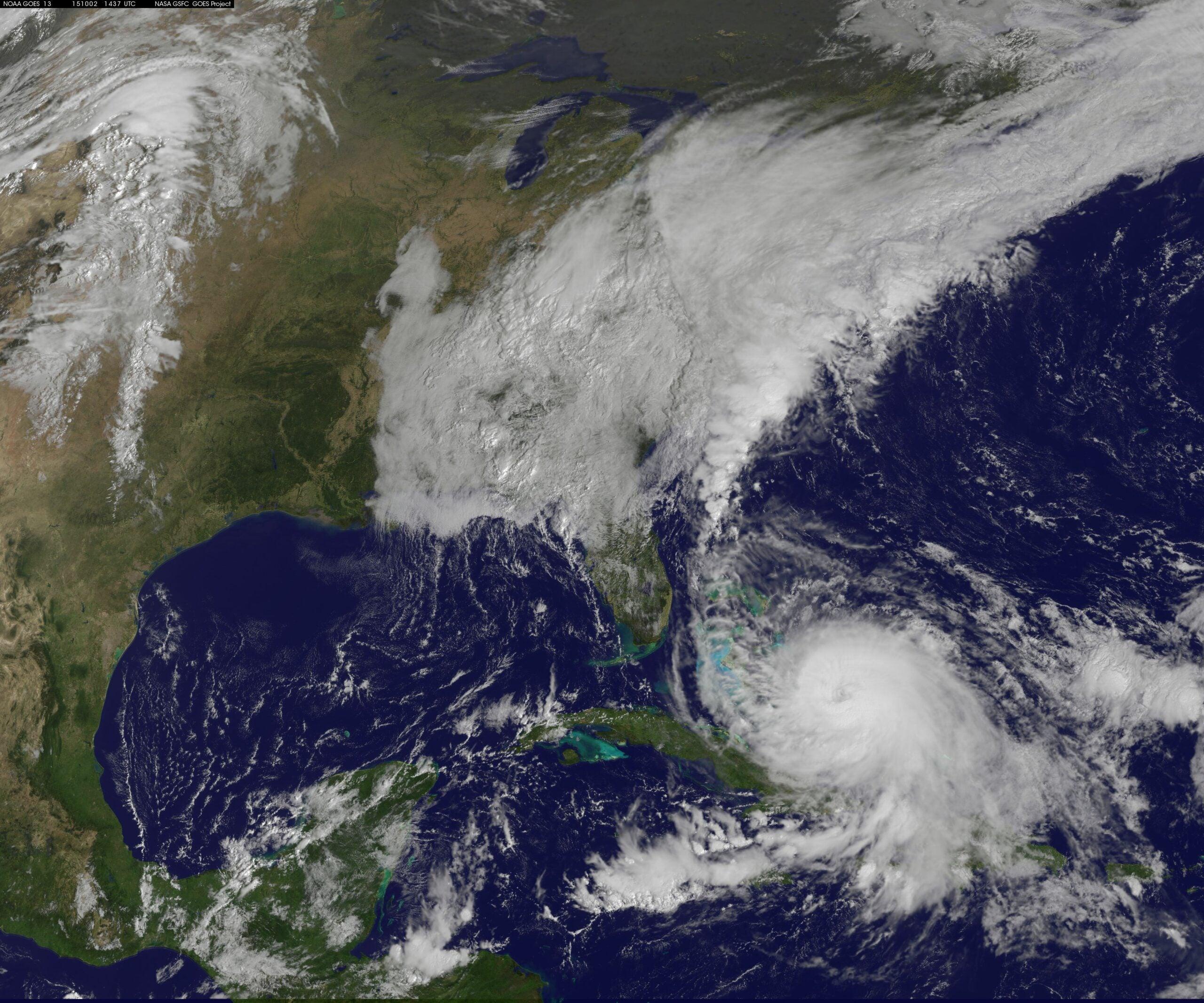 Hurricane Joaquin and storm activity Oct. 2